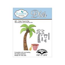 Elizabeth Crafts Die - Palm Tree & Pail