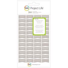 Project Life Stickers - Days / Grey