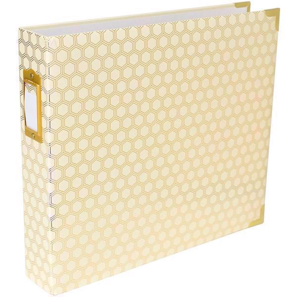 "Project Life Album 12x12"" - Honeycomb Cream/Gold"