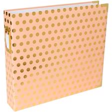 "Project Life Album 12x12"" - Blush/Gold Dot"