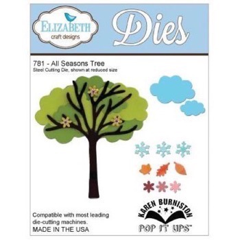 Elizabeth Crafts Die - All Seasons Tree