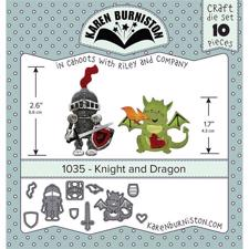 Karen Burniston Die - Knight and Dragon