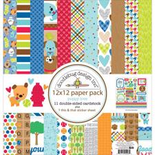 "Doodlebug Design Paper PACK 12x12"" - Puppy Love"
