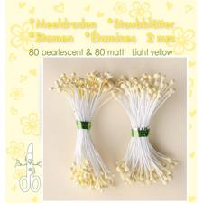 Leane Flower Foam Stamens - Light Yellow