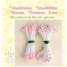 Leane Flower Foam Stamens - Light Pink