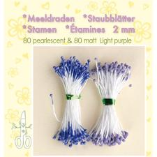 Leane Flower Foam Stamens - Light Purple