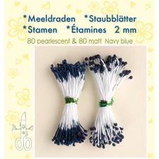 Leane Flower Foam Stamens - Navy Blue