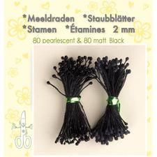 Leane Flower Foam Stamens - Black