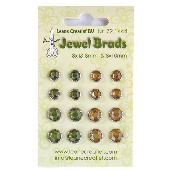 Leane Flower Foam Brads -Mos Green & Light Moss