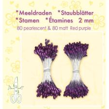 Leane Flower Foam Stamens - Red Purple