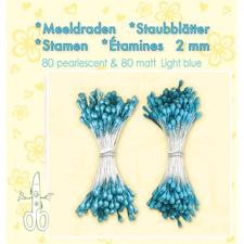 Leane Flower Foam Stamens - Light Blue