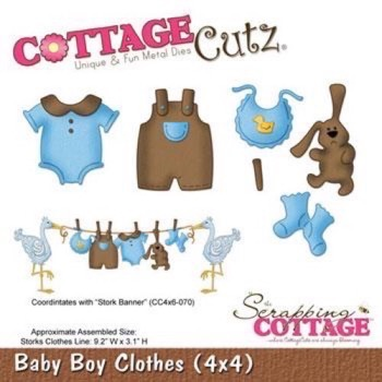 Cottage Cutz  Die - Baby Boys Clothes