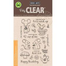 Hero Arts Clear Stamp Set - Mouse Tea Party