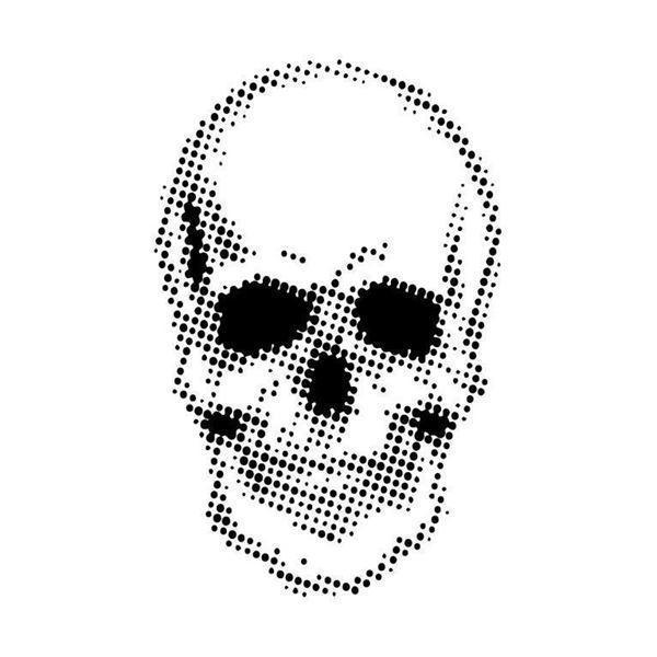 Andy Skinner / Creative Expressions Stencil - Half Tone Skull