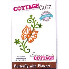 Cottage Cutz  Die - Butterfly with Flowers