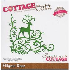 Cottage Cutz  Die - Filigree Deer