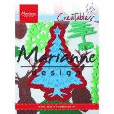 Marianne Design Creatables - Tiny's Christmas Tree With Decorations