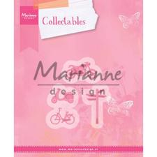 Marianne Design Collectables - Village Decoration set 4 (bicycle)