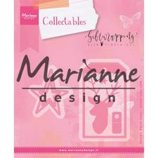 Marianne Design Collectables - Giftwrapping / Karin's Deer, Stars & Tag