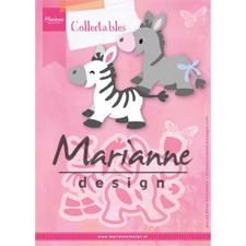 Marianne Design Collectables - Eline's Zebra & Donkey