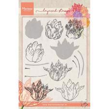 Marianne Design Clear Stamp  - Layering / Tiny's Tulip