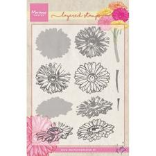 Marianne Design Clear Stamp  - Layering / Tiny's Gerbera