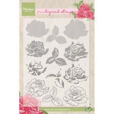 Marianne Design Clear Stamp  - Layering / Tiny's Rose