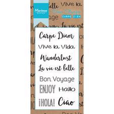 Marianne Design Clear Stamp  - Carpe Diem
