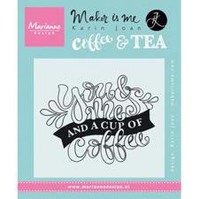 Marianne Design Clear Stamp - You and Me and a Cup of Coffee