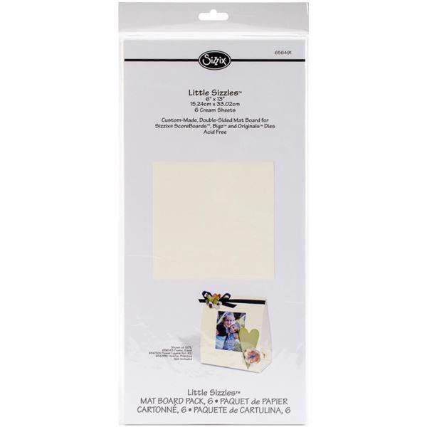 "Little Sizzles Matboard Pack - 6x13"" Cream"