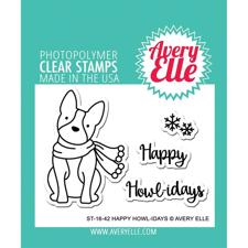 Avery Elle Clear Stamp - Happy Howlidays