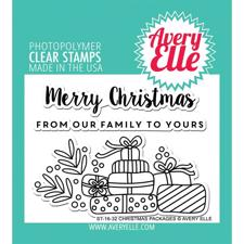 Avery Elle Clear Stamp - Christmas Packages