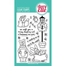 Avery Elle Clear Stamp - Caroling Critters