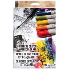 Tim Holtz Starter Kit - Distress Crayons Watercolor Kit