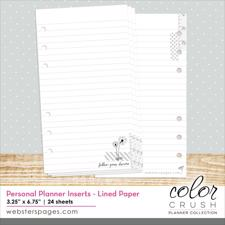 Webster's Pages Color Crush Inserts - Lined