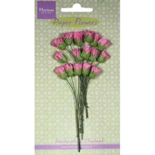 Marianne Design Paper Flowers - Rosebuds / Bright Pink