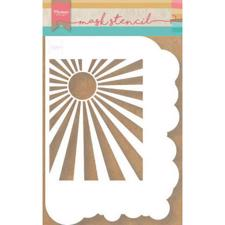 Marianne Design STENCIL - Clouds & Sunburst (A5)