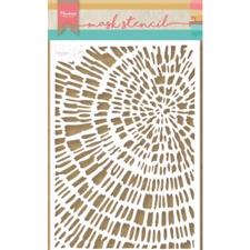 Marianne Design STENCIL - Sliced Wood (A5)