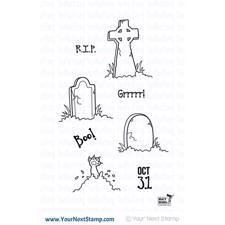 Your Next Stamp - Halloween Graveyard