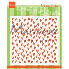 "Marianne Design Embossing Folder 6x6"" - Trendy Hearts"