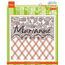 Marianne Design Embossing Folder - Anja's Flower Border