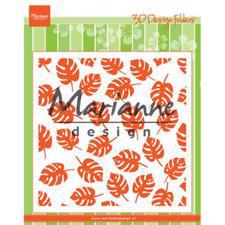Marianne Design Embossing Folder 14x14 cm - Tropical Leaves