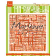 "Marianne Design Embossing Folder 6x6"" cm - Linnen"