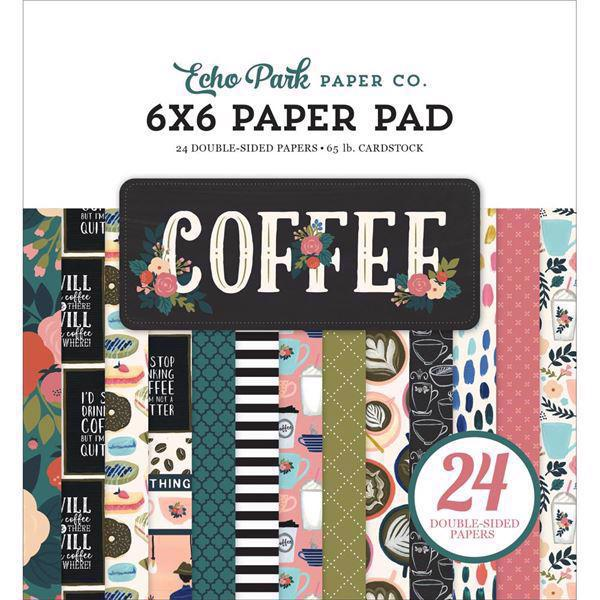 "Echo Park Paper Pad 6x6"" - Coffee"