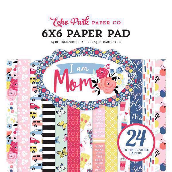 "Echo Park Paper Pad 6x6"" - I am Mom"