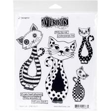 Cling Rubber Stamp Set - Dylusions / Puddy Cat