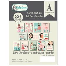 Authentique Life Cards - Fabulous (toppers)