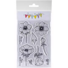 Jane's Doodles Clear Stamp Set - Anemone