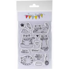 Jane's Doodles Clear Stamp Set - Cats