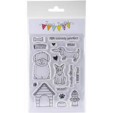 Jane's Doodles Clear Stamp Set - Dogs